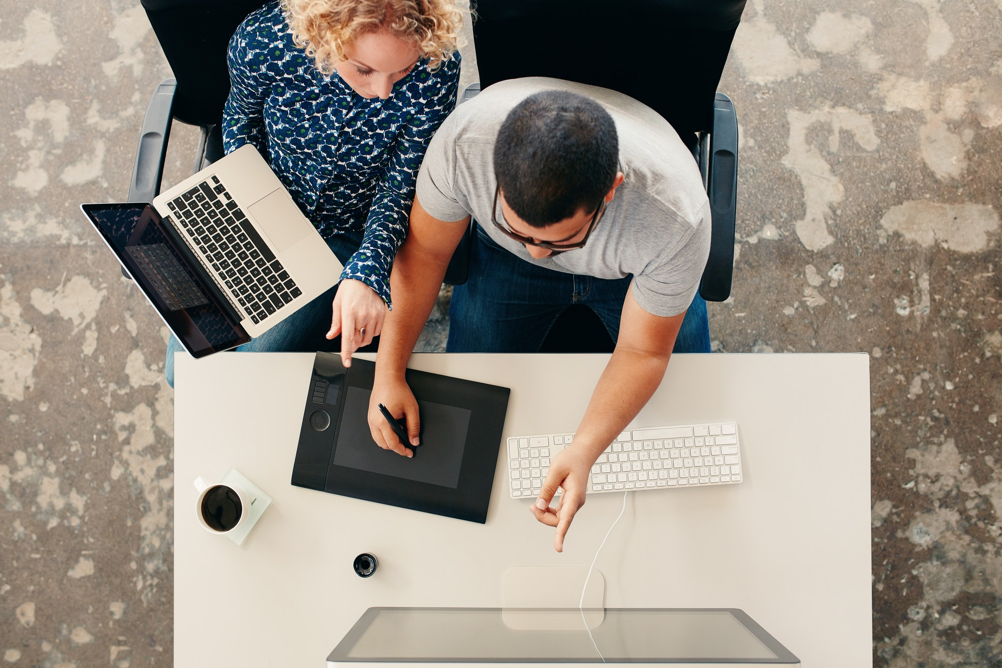 Designers team working together